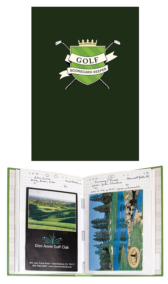 golf scorecard keeper scrapbook