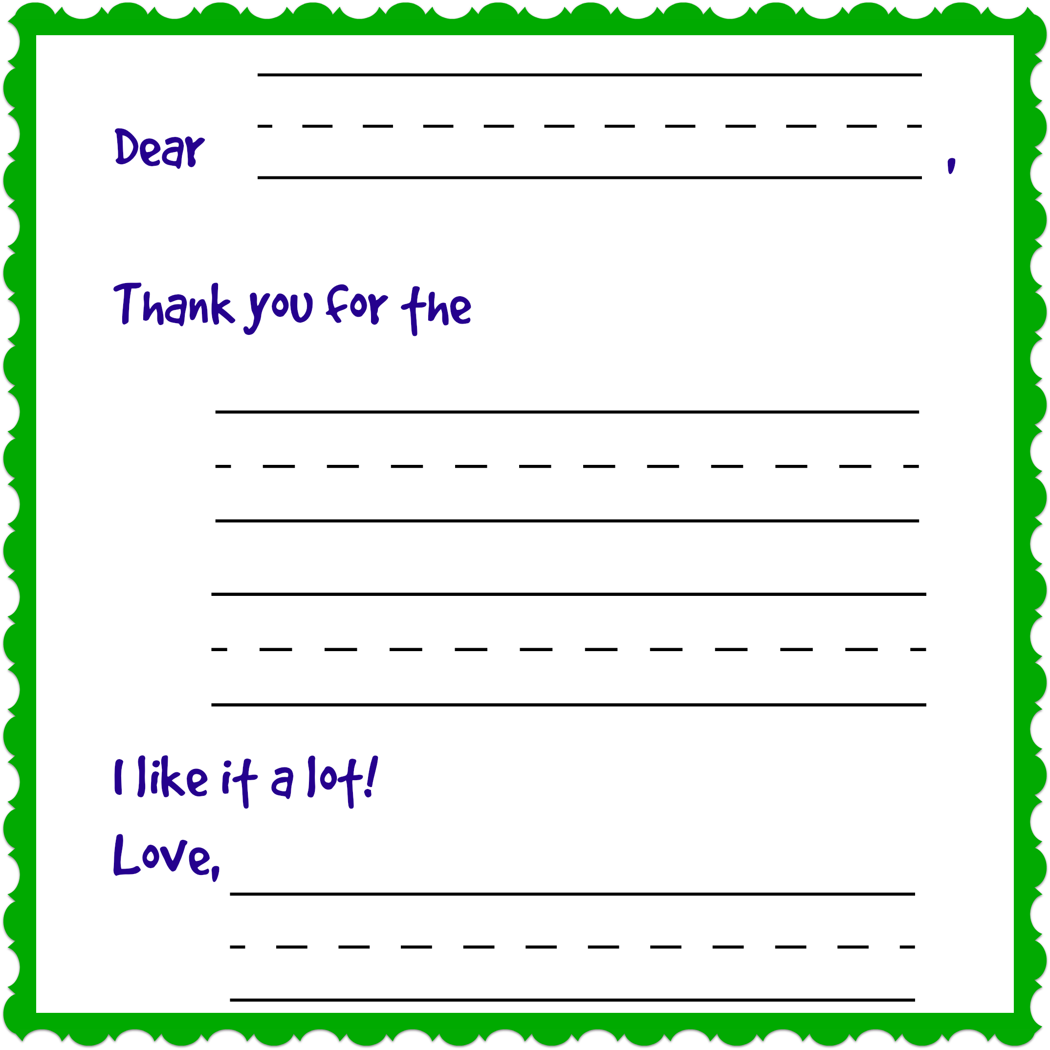 Writing Charming Thank You Notes Free Printable Day 12