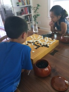 kids playing Go