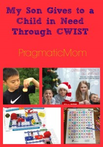 My Son Gives to a Child in Need Through CWIST