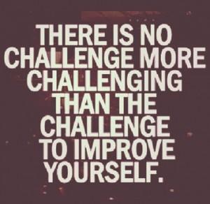 Challenge to improve