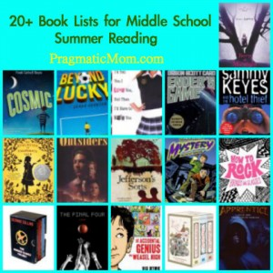 summer reading lists for middle school