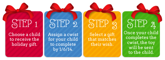 CWIST Holiday giving kids can do
