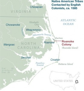 lost colony of Roanoke Island
