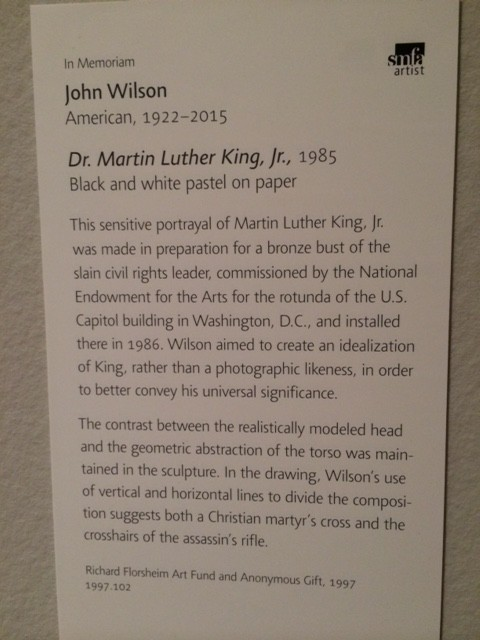 Martin Luther King Junior art at Boston Museum of Fine Arts
