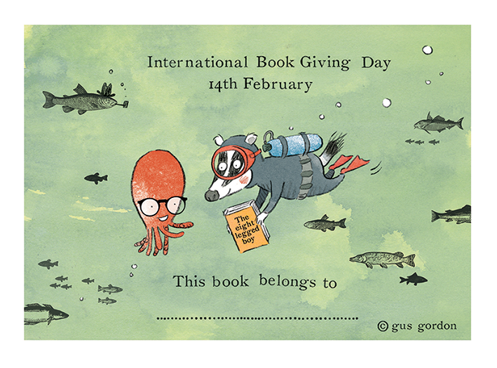 International Book Day free book plate by Gus Gordon