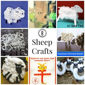 8 sheep crafts for Chinese New Year
