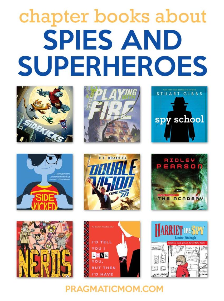 Spy and Superhero Chapter Books for Kids