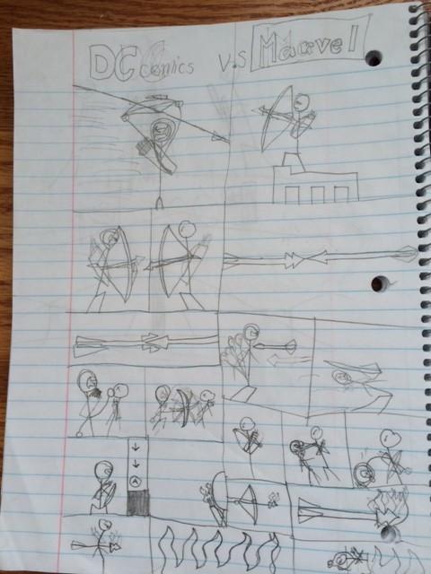 boys drawing comics