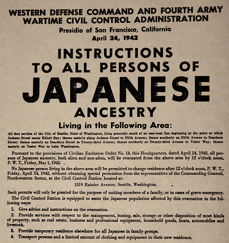 Japanese American internment WWII