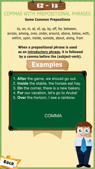 app to learn how to use the comma