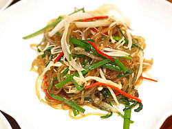 Japchae noodles from Korea