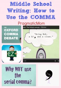 Middle School Writing: How to Use the COMMA