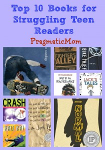 Top 10 Books for Struggling Teen Readers