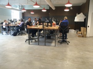 the garage, aquent new office space