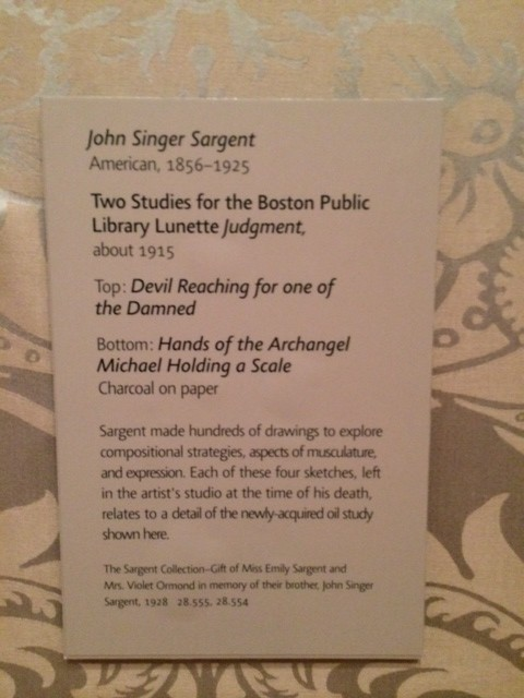 John Singer Sargent drawing hands and feet Museum of Fine Art Boston