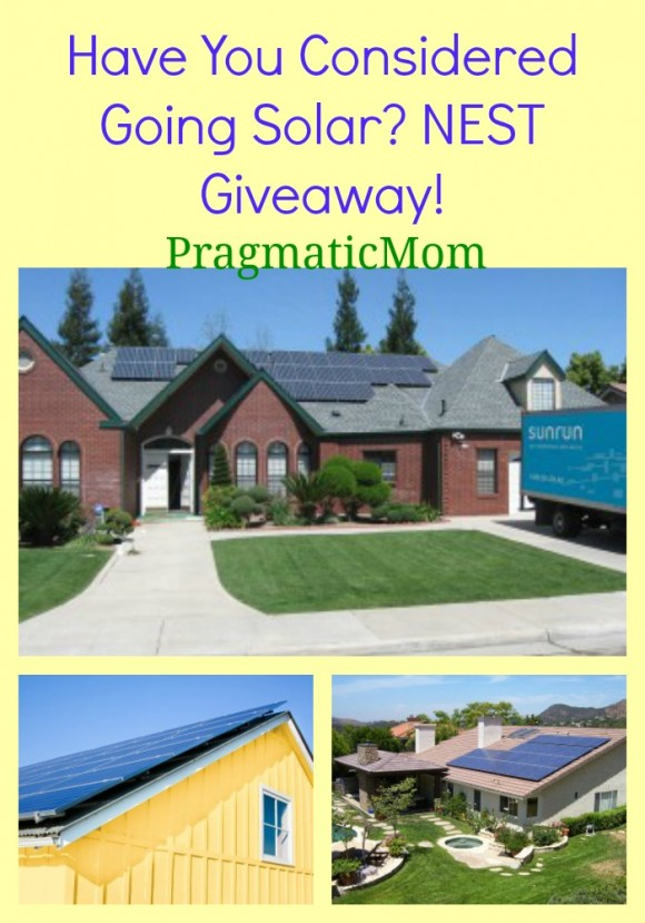 Have You Considered Going Solar? NEST Giveaway!