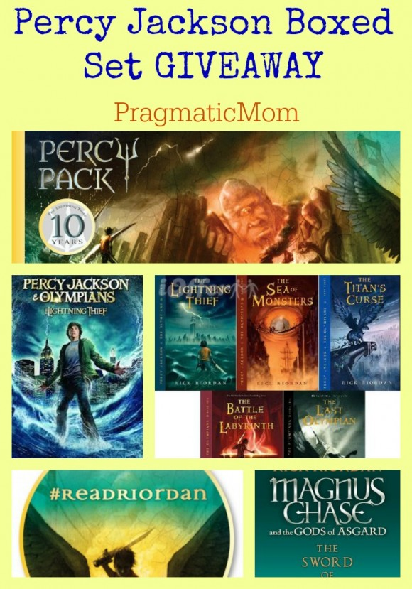 Percy Jackson Boxed Set GIVEAWAY #ReadRiordan