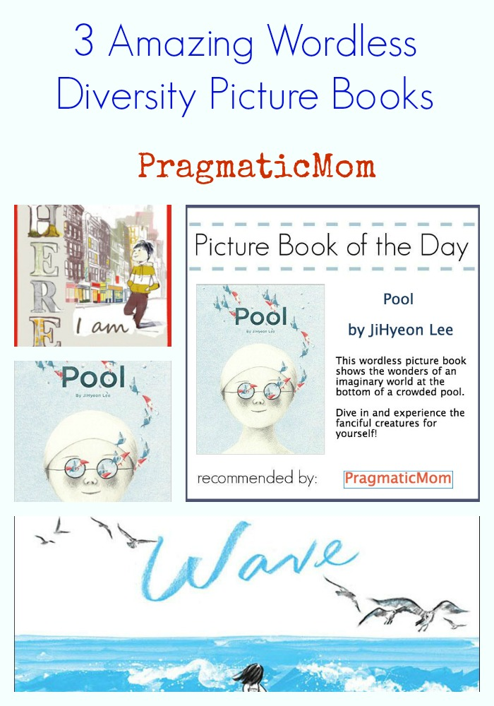 Pool by JiHyeon Lee, 3 amazing wordless diversity picture books