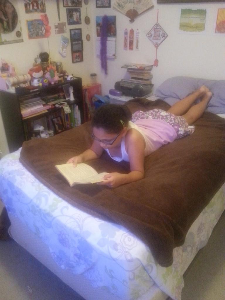caught reading