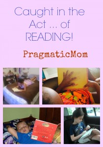 Caught in the Act ... of READING!