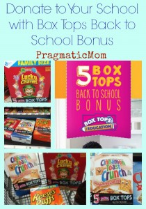 Donate to Your School with Box Tops Back to School Bonus