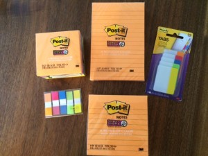 Post It Notes for an Organized Back to School