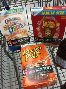 General Mills Box Tops to Donate to Your School