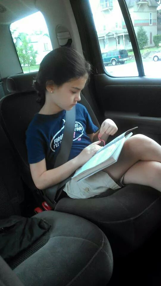 Caught in the act of reading