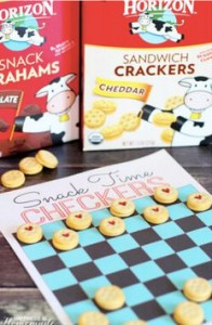 Horizon Organic snacks as game pieces