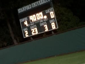 Stanford versus Boston College women's soccer game