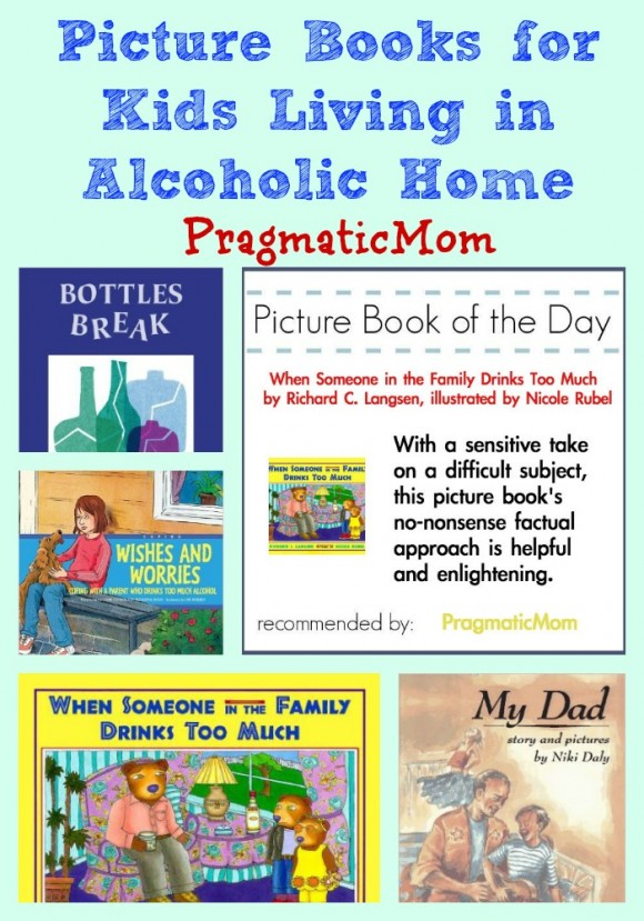 Domestic Violence Awareness month, living in alcoholic home picture books