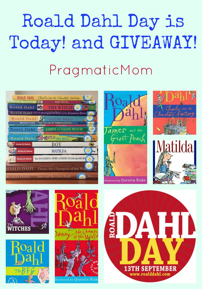 Roald Dahl Day is Today! and GIVEAWAY!