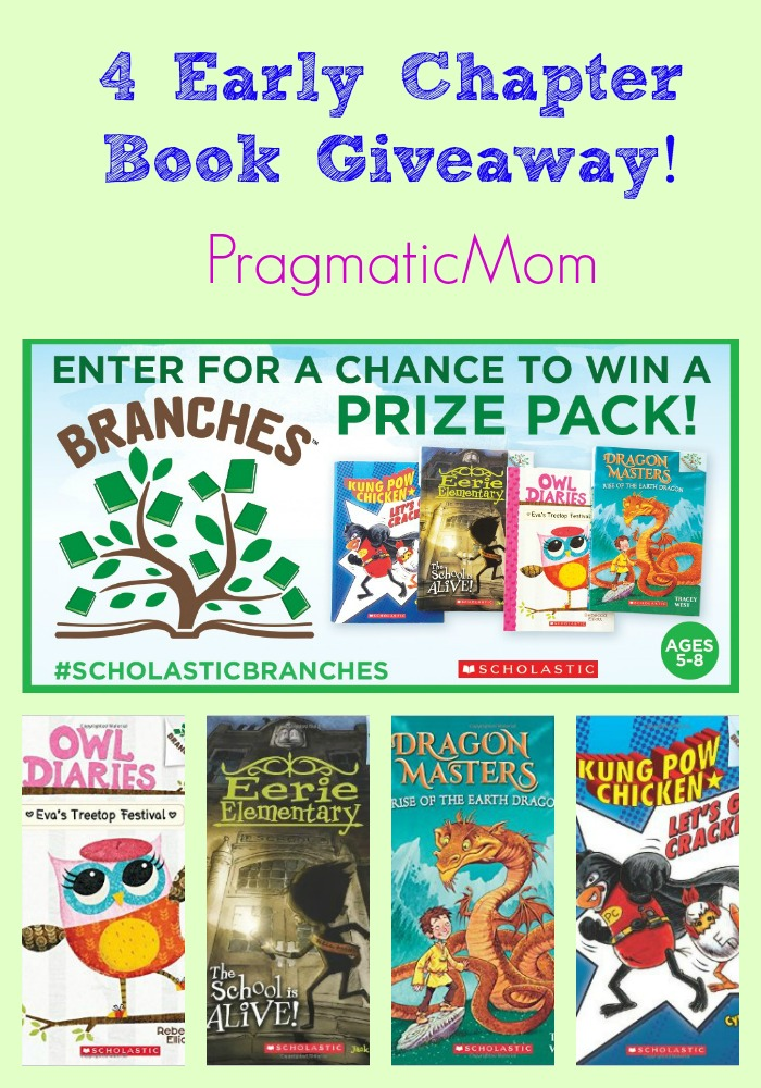 4 Early Chapter Book Giveaway! #ScholasticBranches