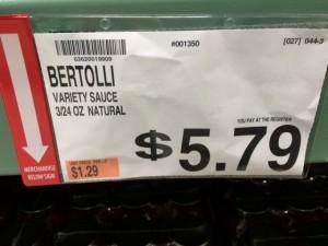 Bertolli Pasta Sauce at BJs