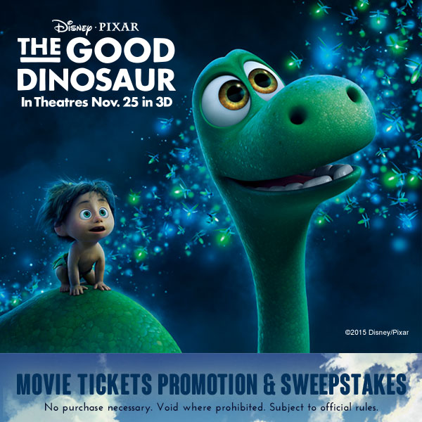 Win Trip to THE GOOD DINOSAUR Movie Premier