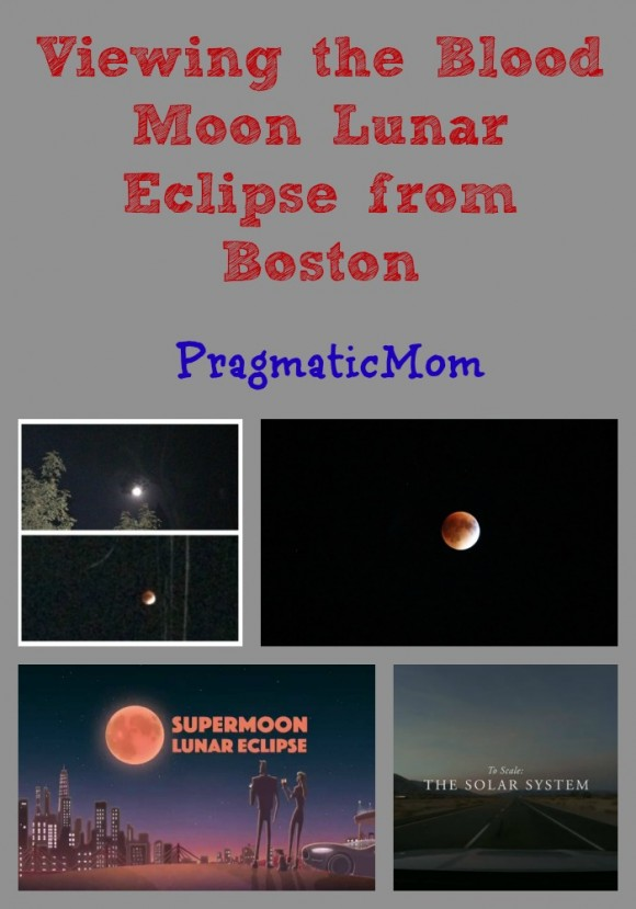Viewing the Blood Moon Lunar Eclipse from Boston