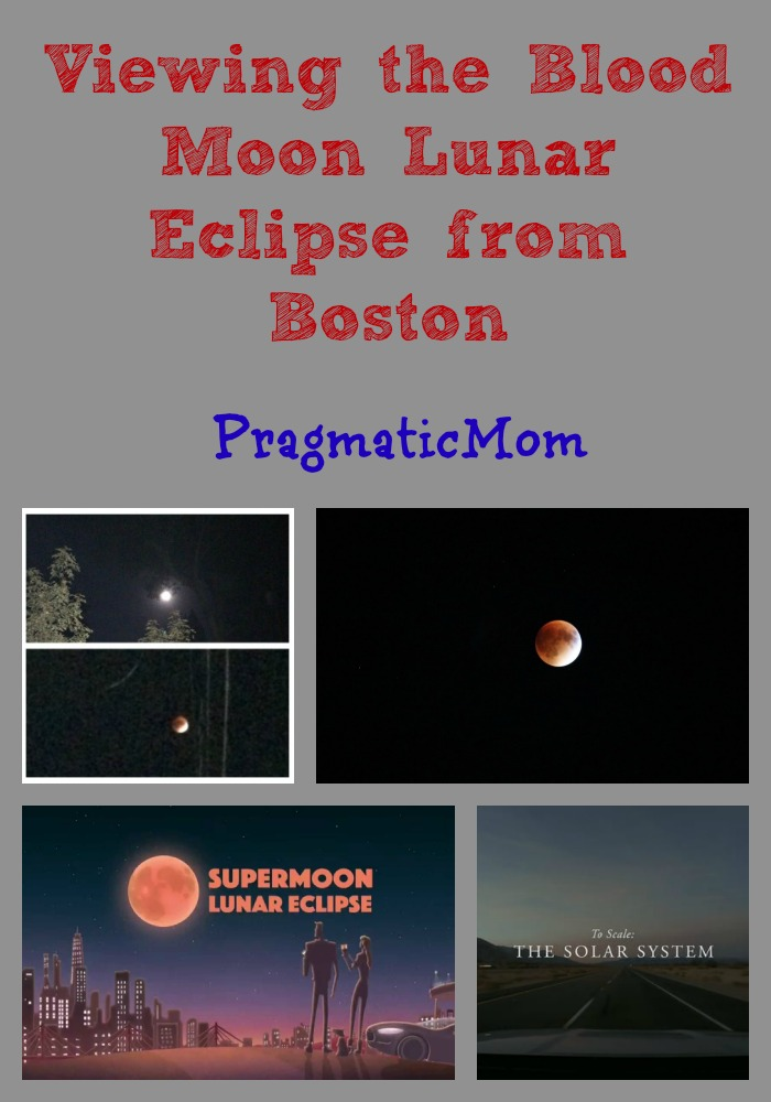 Viewing The Blood Moon Lunar Eclipse From Boston Pragmatic Mom