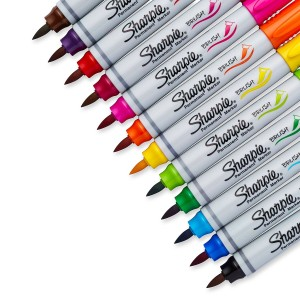 brush tip sharpies