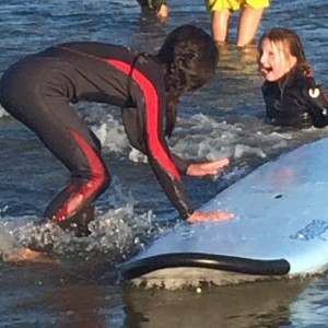 teaching special needs kids how to surf in Kennebunk Maine