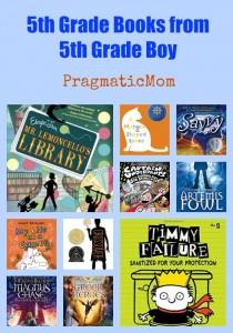 5th Grade Books from 5th Grade Boy