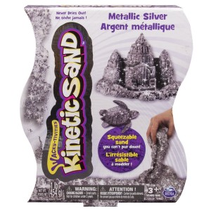 Kinetic Sand in Metallic Silver