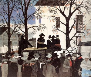 Horace Pippin, John Brown Going to His Hanging