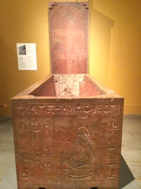 hieroglyphs Sarcophagus of Queen Hatshepsut recut for her father, Thutmose I