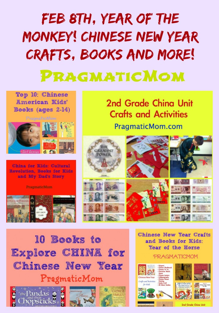 Feb 8th, Year of the Monkey! Chinese New Year Crafts, Books and More!