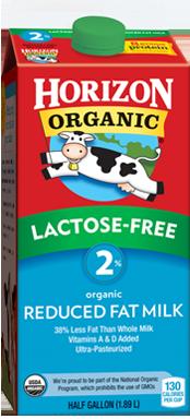 Horizon Organics Lactose-Free 2% Milk