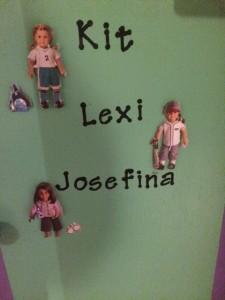 American Girl Doll cabinet