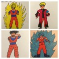 Naruto, Guko drawings by 5th grade boy