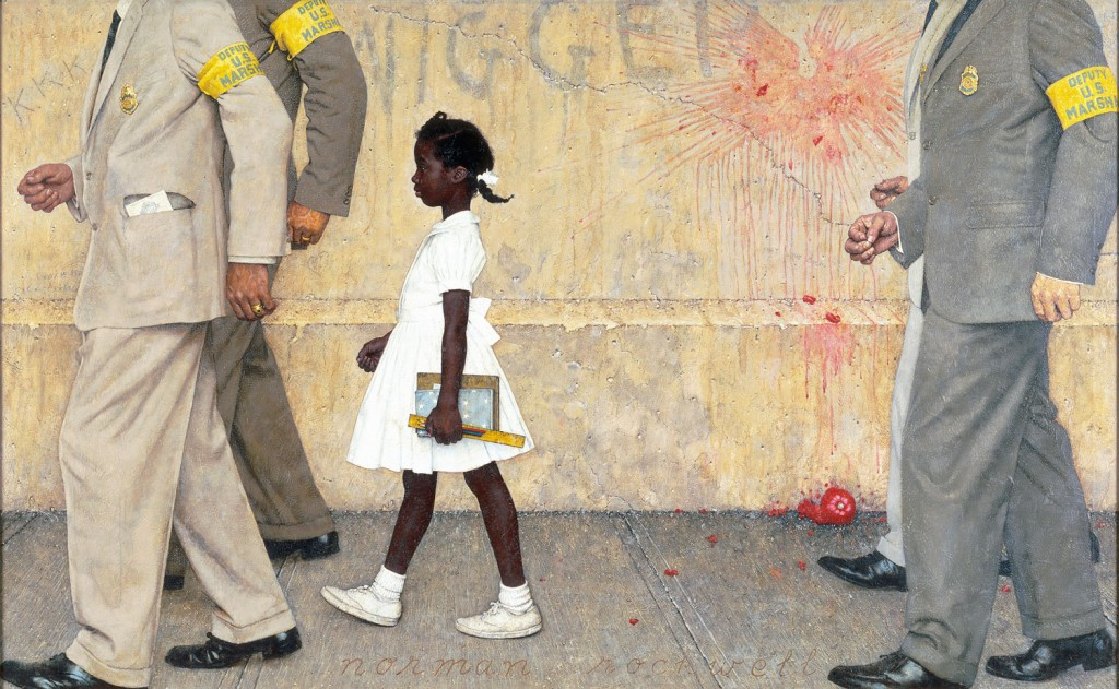 The Problem We All Live With, Ruby Bridges in Norman Rockwell painting