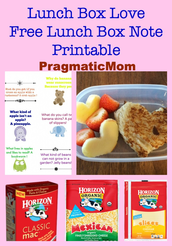Lunch Box Love, free lunch box notes printable